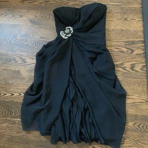 Formal strapless black dress